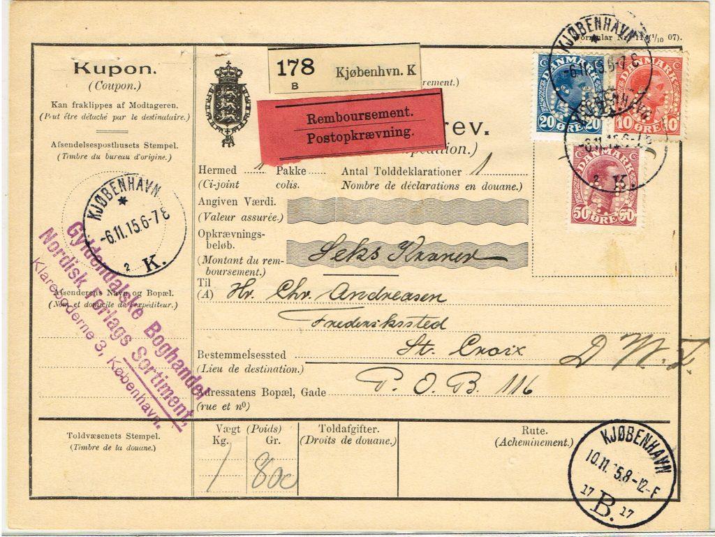 pakke med post danmark